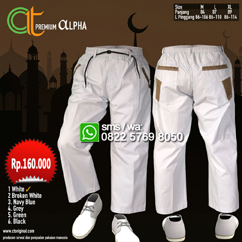 Sirwal Ct Original premium ALPHA - White